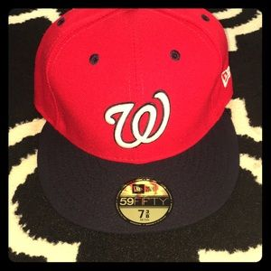 NWT 59Fifty 7 3/8 Washington Nationals Fitted